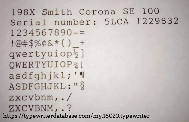 Type sample in 10 pitch