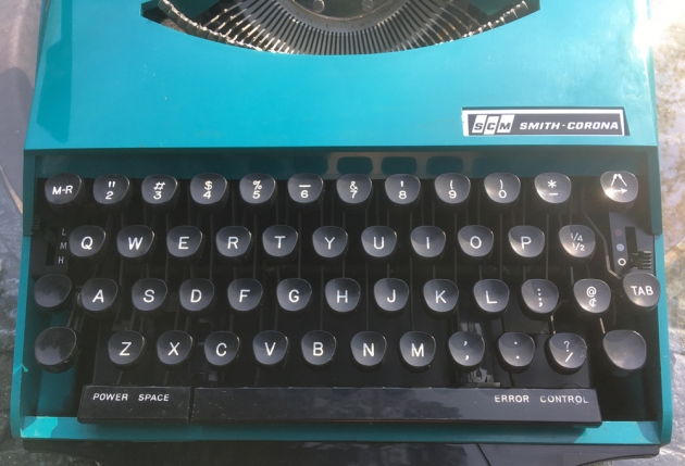 """Smith Corona """"Super G""""  from the keyboard..."""