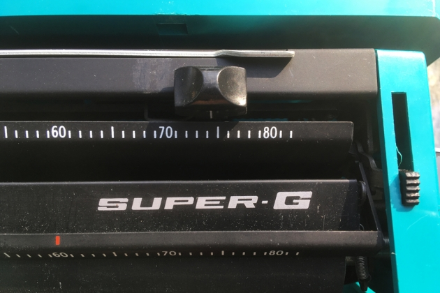 """Smith Corona """"Super G""""  from the model logo on top..."""