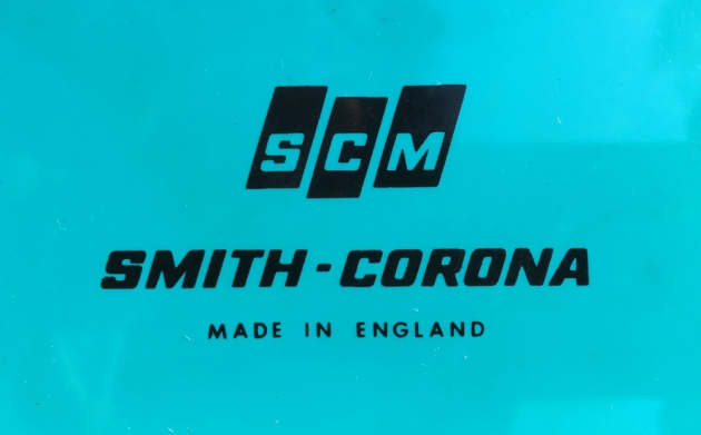 """Smith Corona """"Super G""""  from the maker  logo on the back..."""