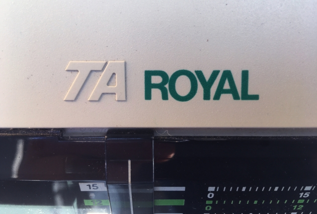 "Royal ""Alpha 620C""  from the maker logo on the left side..."