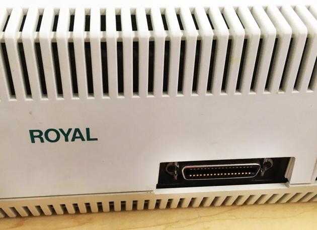 "Royal ""Alpha 620C""  from the computer port on the back..."