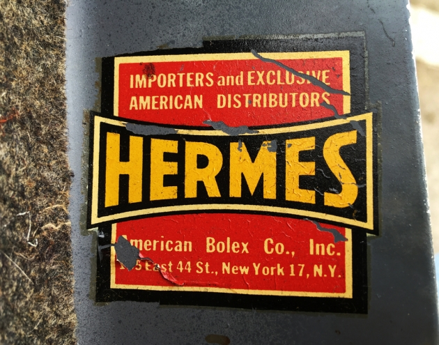 """Hermes """"Baby"""" from sticker inside the top cover..."""