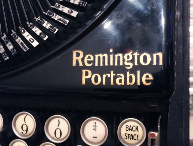 """Remington """"Portable"""" from the logo on the right side..."""
