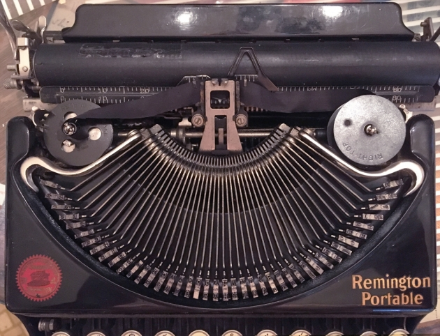 """Remington """"Portable"""" from under the hood..."""
