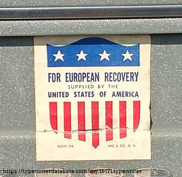 Larger image of the Marshall plan sticker