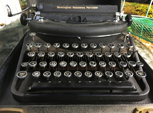 """Remington """"Noiseless Portable Deluxe"""" from the front..."""