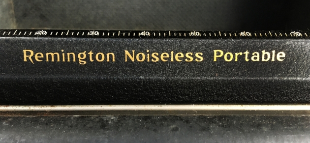 """Remington """"Noiseless Portable Deluxe"""" from the logo on the top..."""