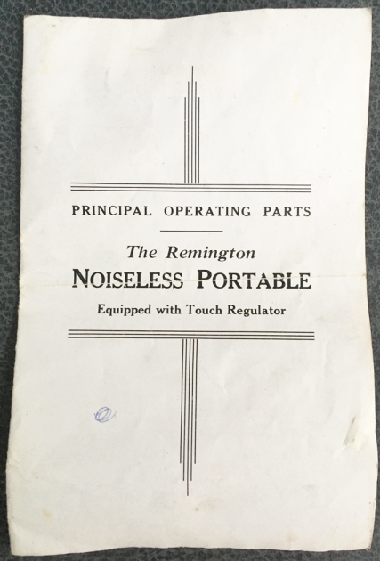 """Remington """"Noiseless Portable Deluxe"""" manual was included..."""