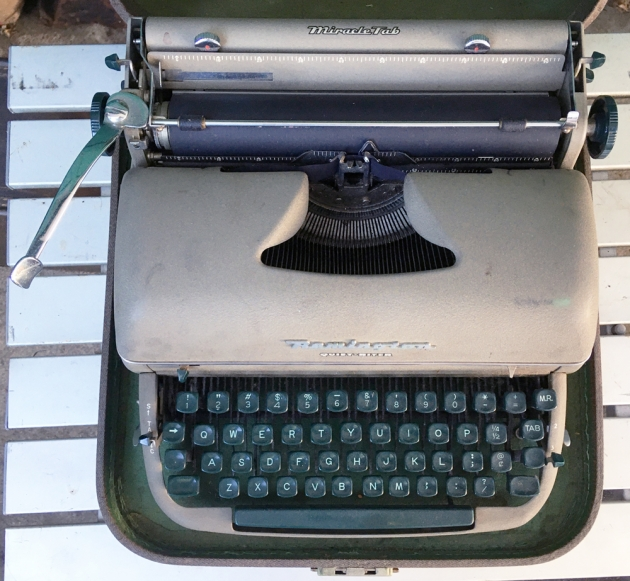 """Remington """"Quiet-Riter"""" from the top..."""