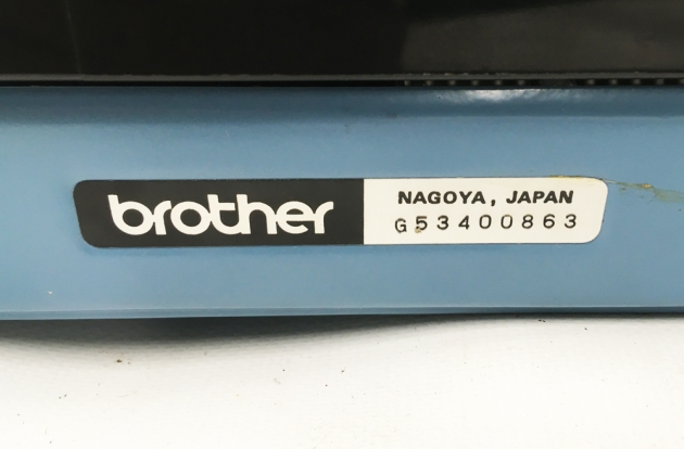 """Brother """"Charger 11 Correction"""" serial number location...."""