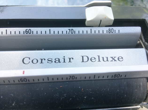 """Smith Corona """"Corsair Deluxe"""" from the model logo on the top..."""