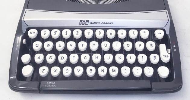 """Smith Corona """"Corsair Deluxe"""" from the keyboard..."""