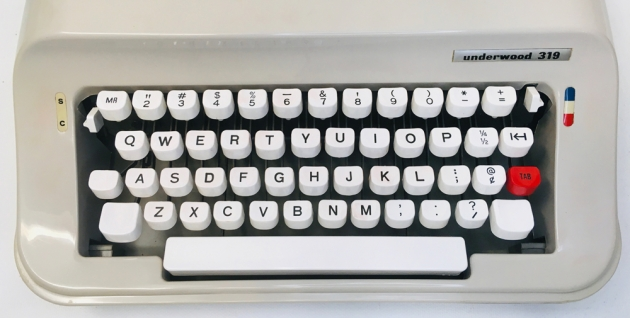 """Underwood """"319"""" from the keyboard..."""
