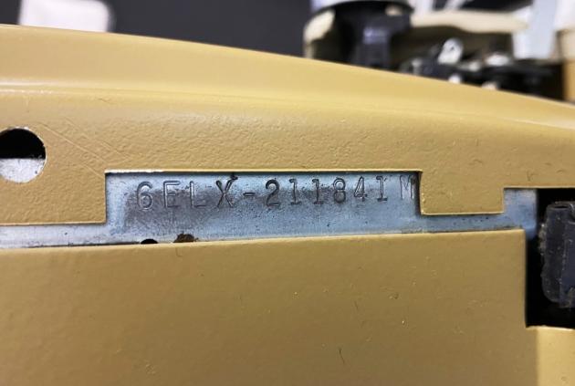 "Smith Corona ""Coronet Super 12"" serial number location..."