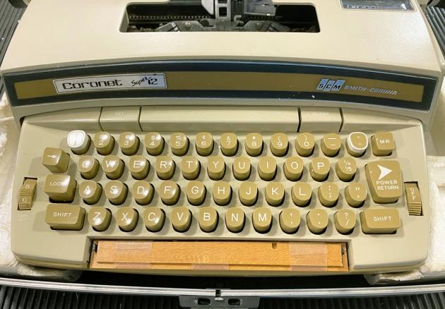"""Smith Corona """"Coronet Super 12"""" from the keyboard..."""