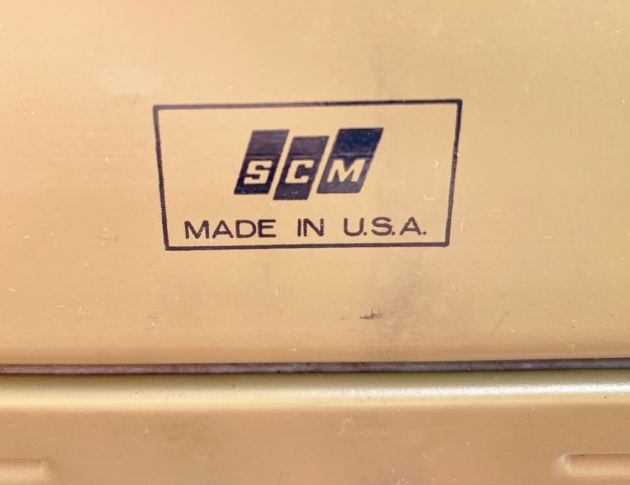 "Smith Corona ""Coronet Super 12"" from the back...(detail)"