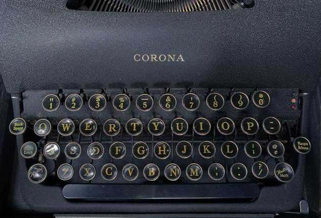 "Smith Corona ""Standard"" from the keyboard..."