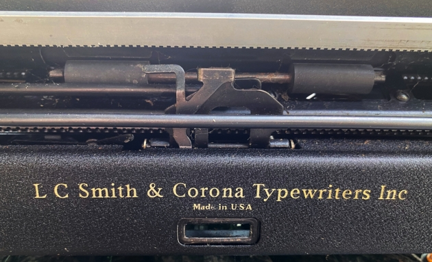 """Smith Corona """"Standard"""" from the back...(detail)"""