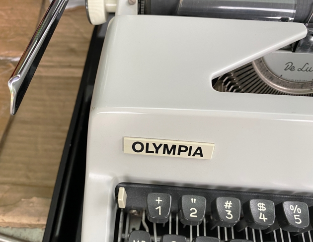 """Olympia """"SM9"""" from the logo on the front (right)..."""