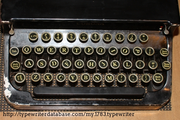 """This typewriter has several """"special"""" key tops that add to its charm and character"""