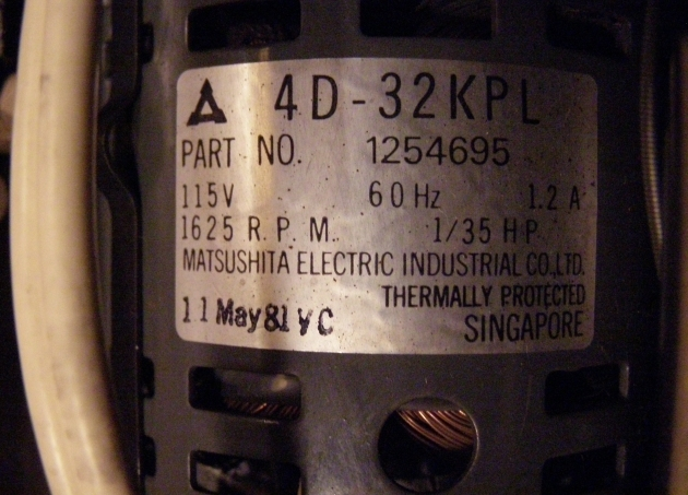 Motor seems to have been made in May of 1981...