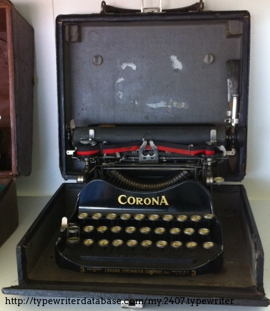 The typewriter was sold with a brush and a small oiling can. This typewriter needs a good lubrication to work properly.