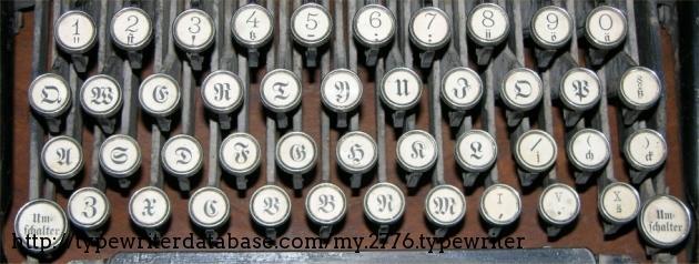Detail of keyboard.