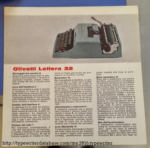 olivetti lettera 32 manual pdf