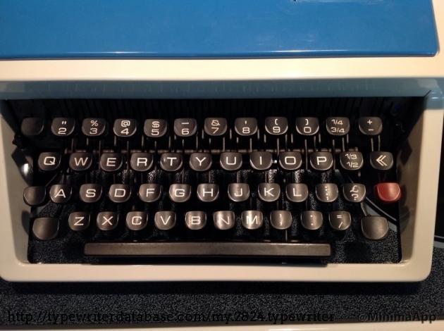 The odd keyboard layout.