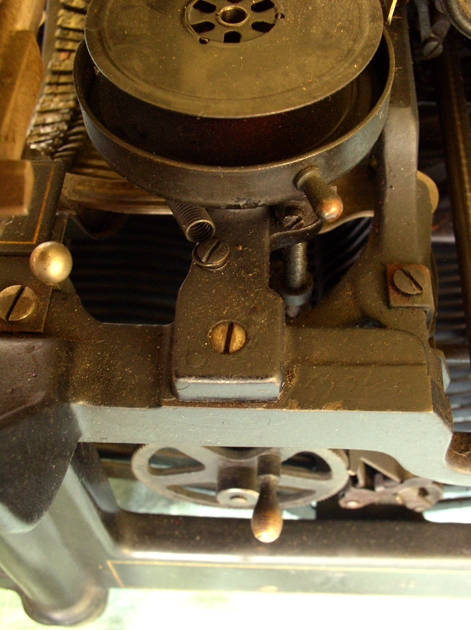 This is a very different Spool mounting arrangement from the other No. 3 I am listing here. There are many differences, but, after all, they are six years and almost a quarter million serial numbers apart.