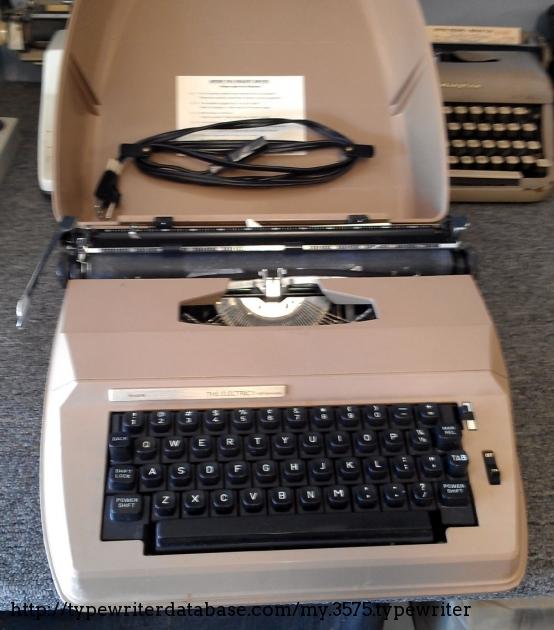 1974 sears electric 1 typewriter 00619031 twdb rh typewriterdatabase com Craftsman LT 2000 Manual PDF Craftsman Lawn Tractor Manual