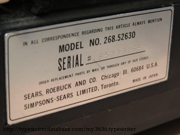 Serial number badge.