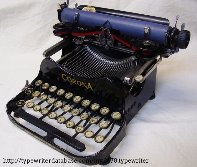 I'm sure sometime in its life this Corona had its platen recovered.  It is the only blue one Ive ever seen.