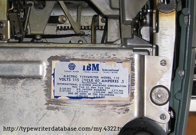 """Note the decal says model 11C, I can't explain why IBM does this. 11C references an """"A"""" model, according to the serial number table. This is certainly a """"B"""" model."""
