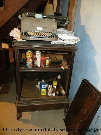 This was my first look - a poor picture in an estate sale listing. That blue box inside the basket is a spare NOS ribbon!