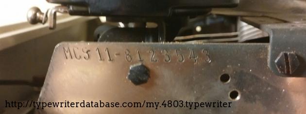 MCS 11: MC= Empress model S: Special typeface 11: 11 inch platen