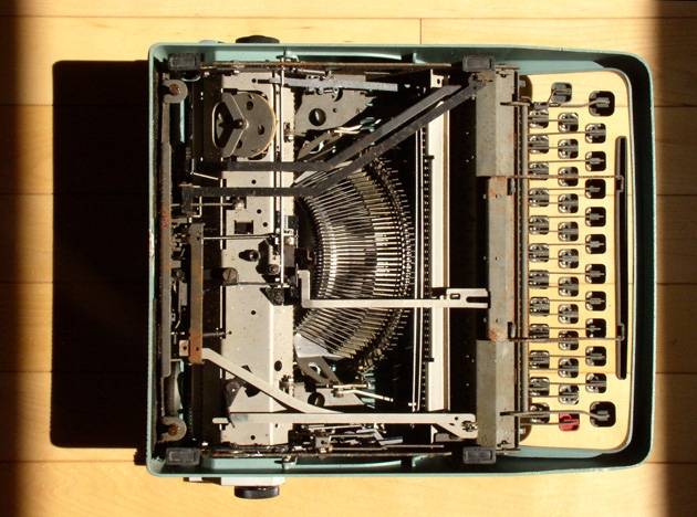 ...like an Olivetti ad for a used typewriter....
