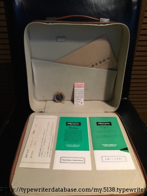 Manuals in English and Japanese, original bill of sale (July 7, 1964), manufacturer's chit and original seal, envelope from Seibu Department Store.
