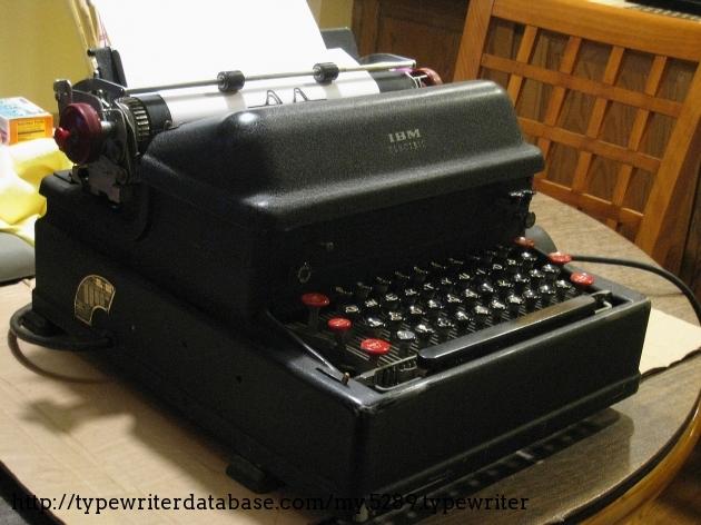 1947 Ibm Electromatic On The Typewriter Database