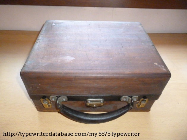 Eagle Lock Co. made this wooden box specially for Standard Typewriter Co.