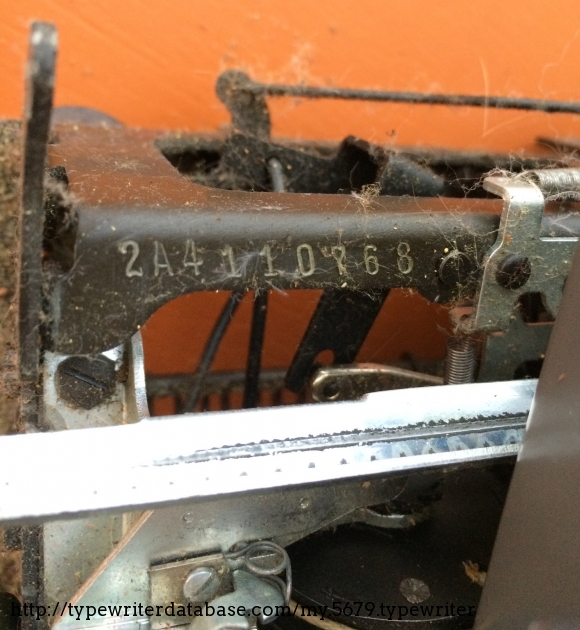 Pre-cleaning serial number.