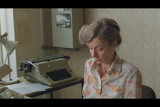 """A Robotron 24 portrayed in its original habitat. This is a scene from the excellent German tv-series """"Weissensee"""" (ARD Degeto, broadcast by Das Erste, 2010- ). The episode from which this picture was taken is actually set in 1980, so the typewriter is slightly anachronistic here"""