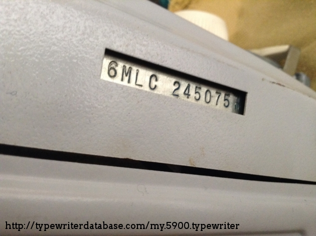 SCM Smith-Corona Galaxie Twelve XII serial number is located on the bottom of the machine