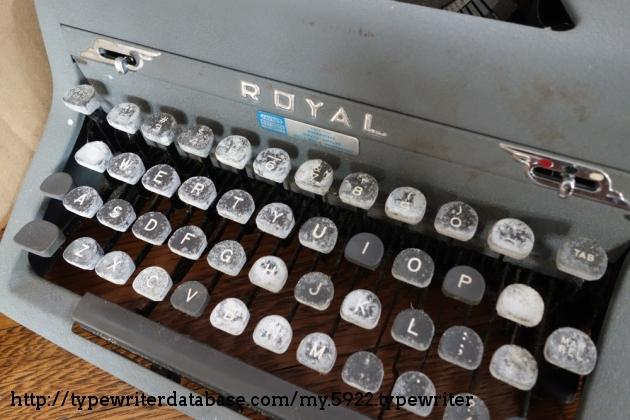 BEFORE: white residue on keys
