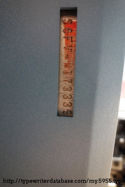 The serial number is located on the bottom of the machine