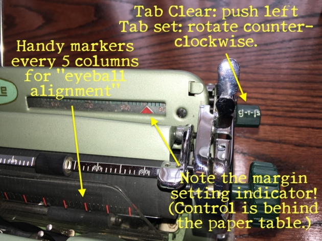 "The ""tab"" set/clear button and various other convenient features"