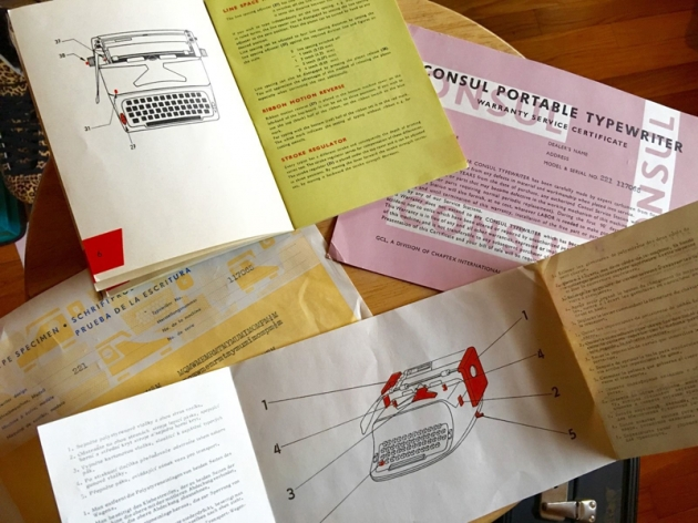 "It came with this literature, including the small user's guide and the quality-control ""sample type"" sheet. (Picture provided by the seller.)"