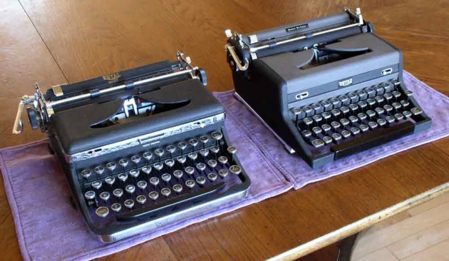 a 1937 Quiet and a 1949 Quiet DeLuxe
