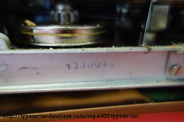 serial number for Olympia SM3 is stamped on the bottom of the machine.